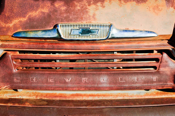 Chevy Truck Wall Art - Photograph - Chevrolet 31 Apache Pickup Truck Grille Emblem by Jill Reger
