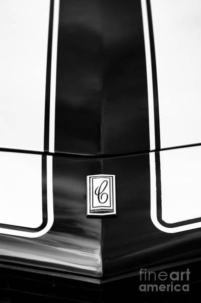 Wall Art - Photograph - Chevrolet Camaro Hood by Tim Gainey