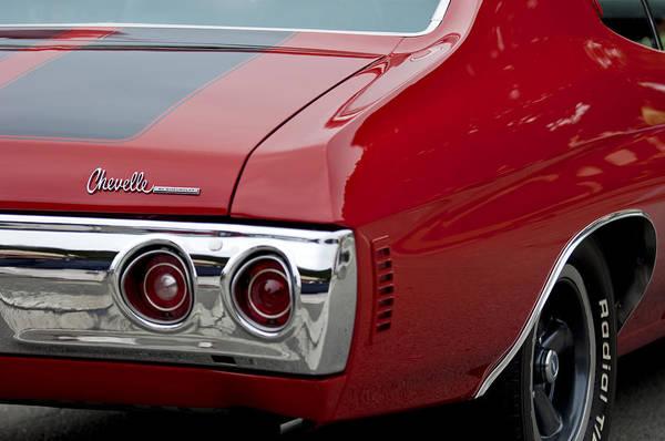 Chevy Chevelle Wall Art - Photograph - Chevrolet Chevelle Ss Taillight Emblem 3 by Jill Reger