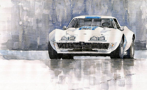 Wall Art - Painting - Chevrolet Corvette C3 by Yuriy Shevchuk