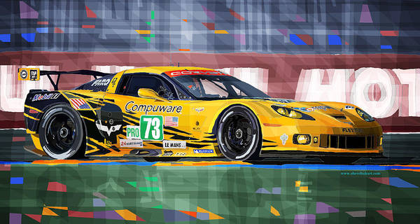 Mixed Media Mixed Media - Chevrolet Corvette C6r Gte Pro Le Mans 24 2012 by Yuriy Shevchuk