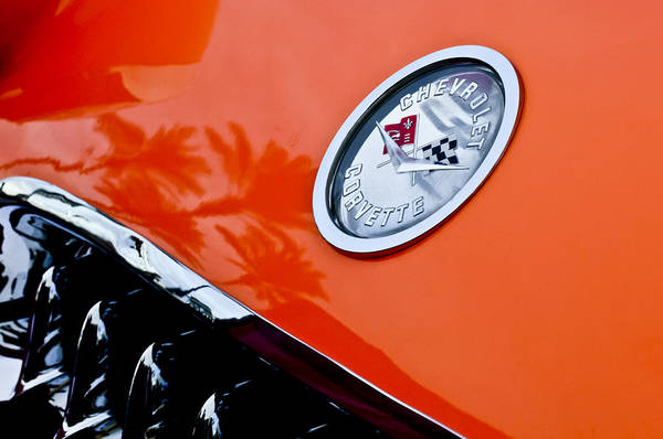 Photograph - Chevrolet Corvette Hood Emblem by Jill Reger
