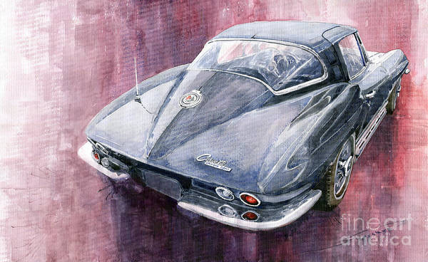 Chevrolet Corvette Sting Ray 1965 Art Print