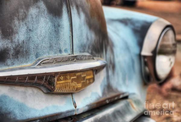 Photograph - Chevrolet Emblem by Eddie Yerkish