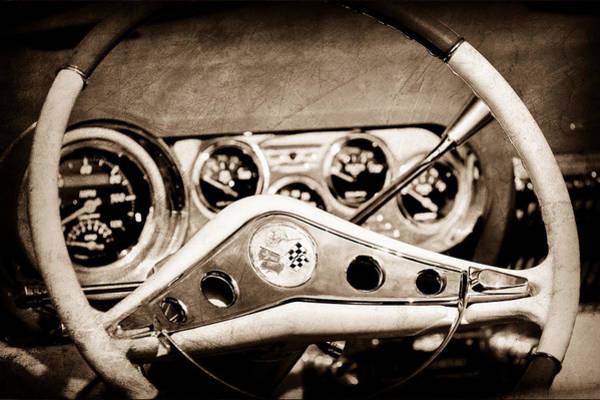 Impala Photograph - Chevrolet Impala Steering Wheel Emblem by Jill Reger