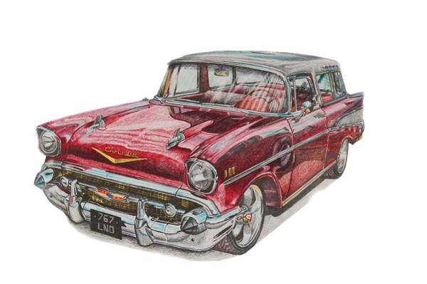 Nomad Drawing - Chevrolet Nomad by Benjamin Self