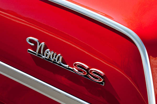 Photograph - Chevrolet Nova Ss Emblem by Jill Reger