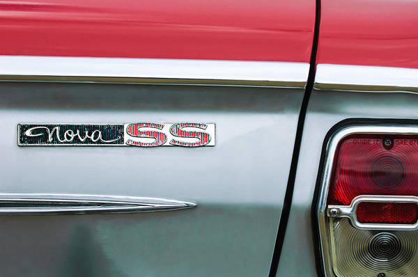 Photograph - Chevrolet Nova Ss Taillight Emblem by Jill Reger
