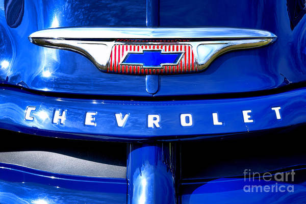 Pick Up Truck Photograph - Chevrolet Pickup Hood Ornament by Olivier Le Queinec