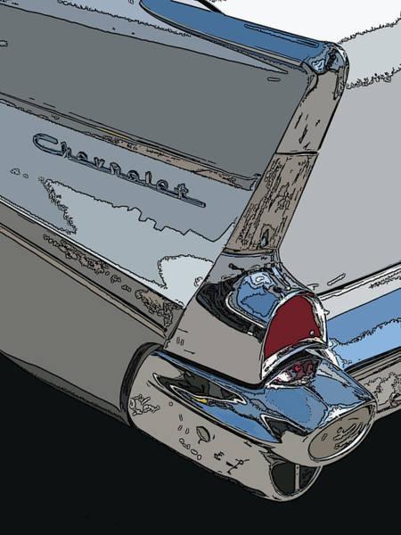 Photograph - Chevrolet Tail Fin by Samuel Sheats