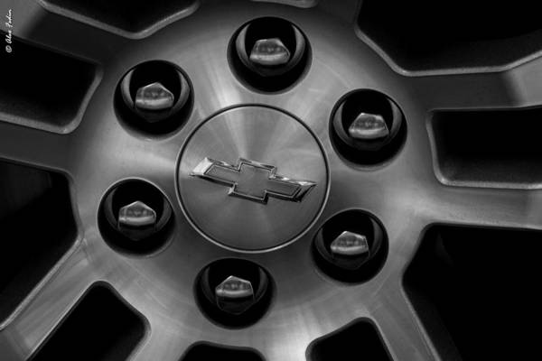 Photograph - Chevrolet. The Wheel by Alexander Fedin