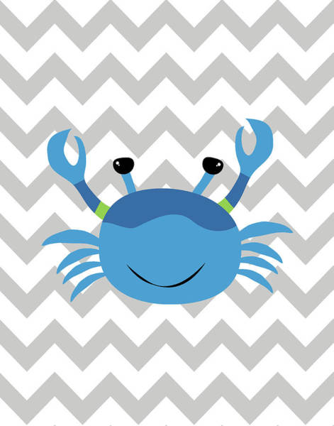 Nursery Painting - Chevron Crab by Tamara Robinson