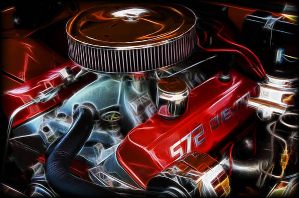 V8 Engine Wall Art - Photograph - Chevy 572 Fractal by Ricky Barnard
