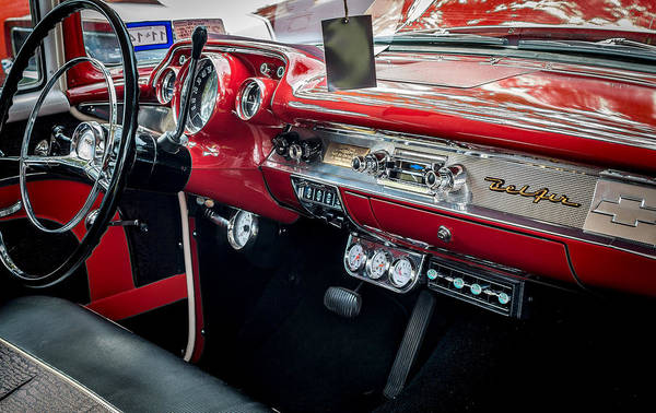 Photograph - Chevy Bel Air Dash by David Morefield