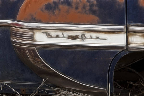 Wrecking Yard Photograph - Chevy Bel Air by Wes and Dotty Weber