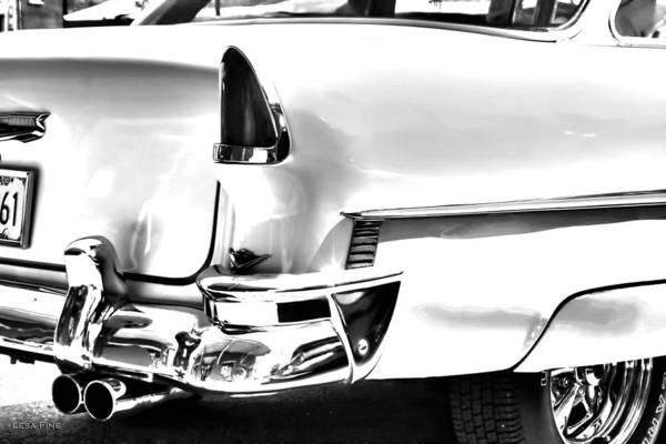 Photograph - Chevy Car Art White Rear View by Lesa Fine