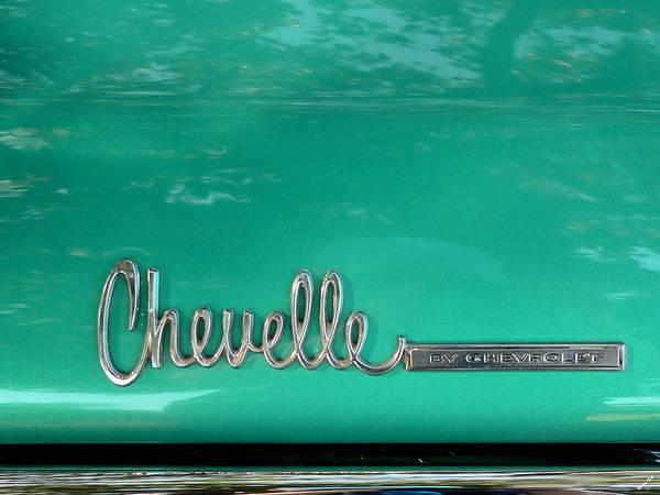 Photograph - Chevy Chevelle Trunk Emblem by Kathy K McClellan