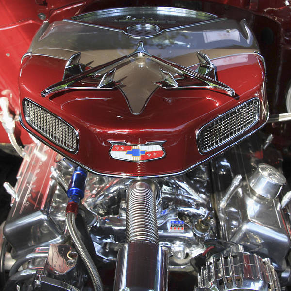 Photograph - Chevy Engine by Bob Slitzan