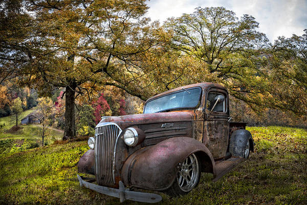 Wall Art - Photograph - Chevy Pickup Truck by Debra and Dave Vanderlaan