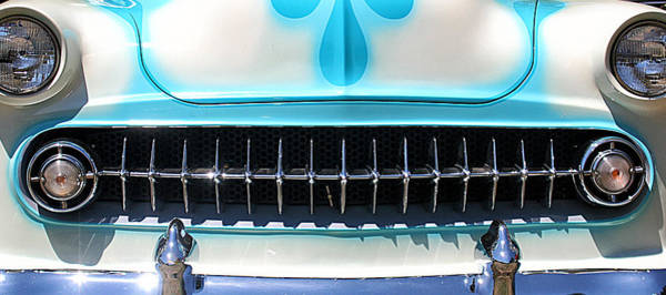 Photograph - Chevy Station Wagon Grill by William Selander