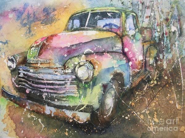 Painting - Chevy Truck by Carol Losinski Naylor
