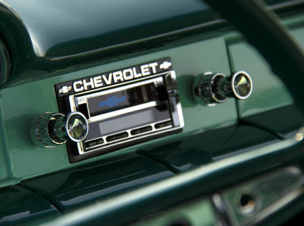 Car Stereo Photograph - Chevy Tunes by Debby Richards