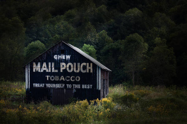 Americana Photograph - Chew Mailpouch by Tom Mc Nemar