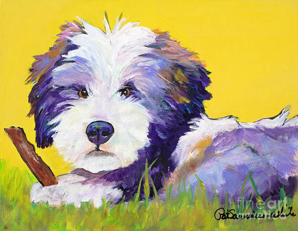 Painting - Chew Stick by Pat Saunders-White