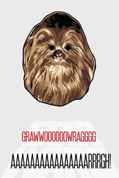 Painting - Chewbacca Star Wars Poster by Florian Rodarte