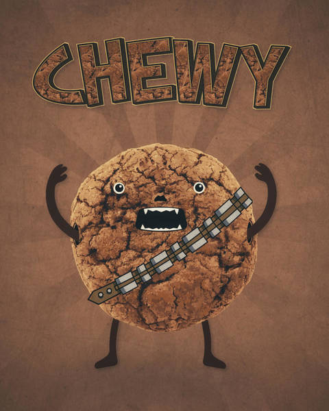 Wall Art - Painting - Chewy Chocolate Cookie Wookiee by Philipp Rietz