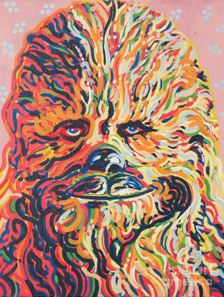 Star Wars Movie Painting - Chewy by Jesse Quinn Mayorga