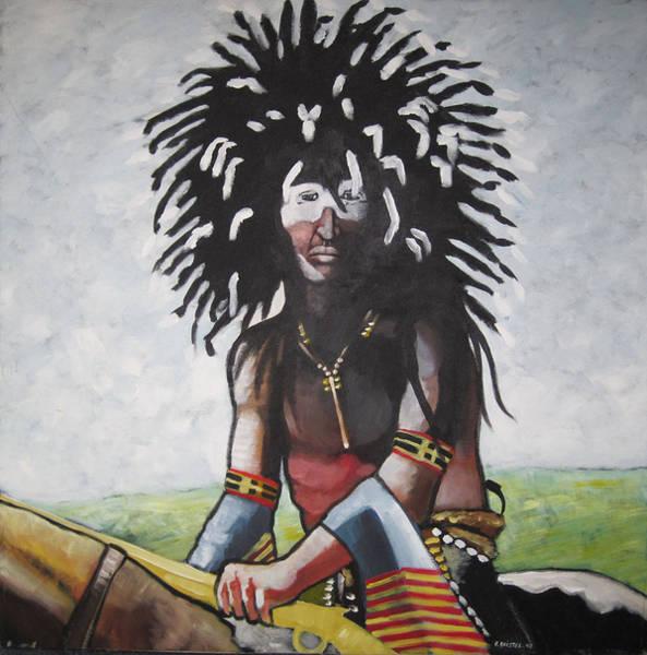 Sacred Ground Painting - Cheyenne Dog Soldier by Franck Boistel