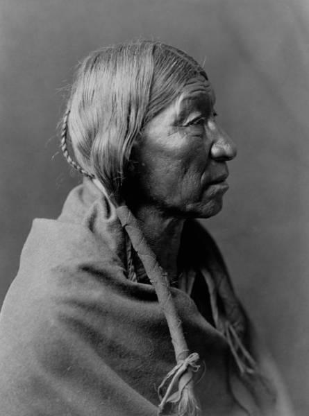 1910 Photograph - Cheyenne Indian Woman Circa 1910 by Aged Pixel