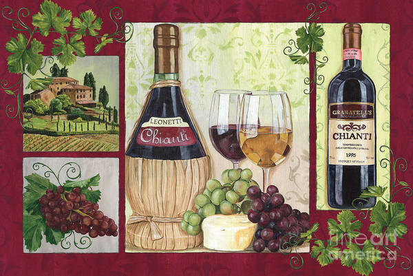 Vines Wall Art - Painting - Chianti And Friends 2 by Debbie DeWitt
