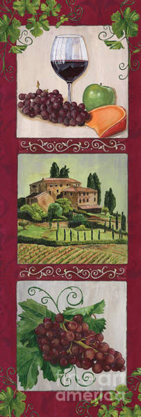 Apple Painting - Chianti And Friends Collage 1 by Debbie DeWitt