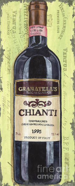 Label Painting - Chianti And Friends Panel 1 by Debbie DeWitt