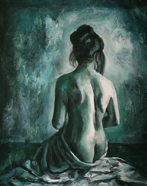 Figurative Wall Art - Painting - Chiaro Di Luna  by Escha Van den bogerd
