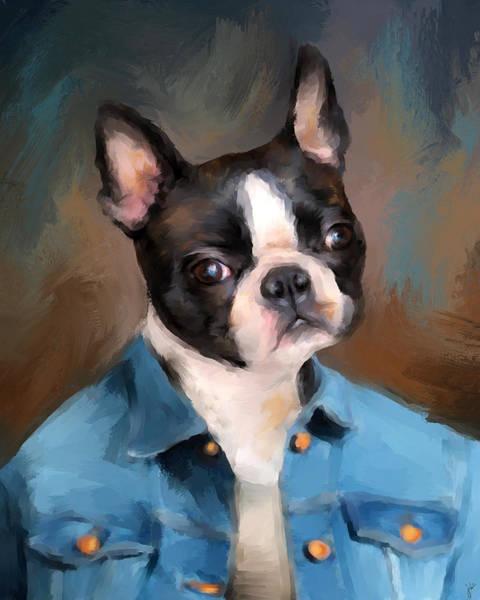Painting - Chic Boston Terrier by Jai Johnson