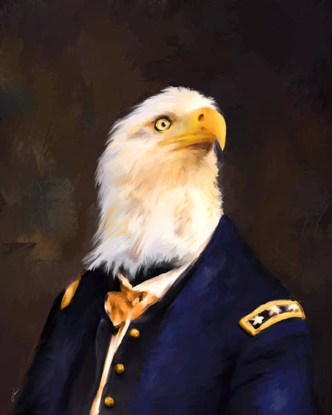 Painting - Chic Eagle General by Jai Johnson