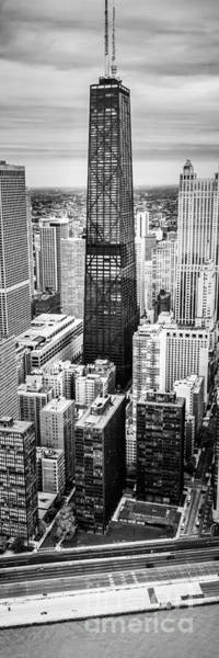 Wall Art - Photograph - Chicago Aerial Vertical Panoramic Picture by Paul Velgos
