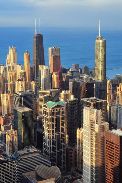 Photograph - Chicago Aerial View by Songquan Deng