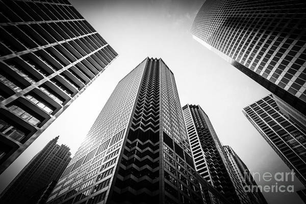 Big Five Photograph - Chicago Architecture In Black And White by Paul Velgos