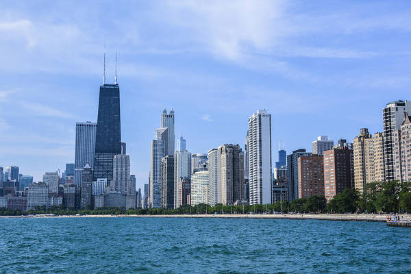 Chicago As Seen From North Ave Beach Art Print by Michael  Bennett