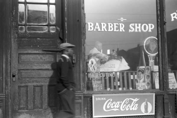 Photograph - Chicago Barber Shop, 1941 by Granger