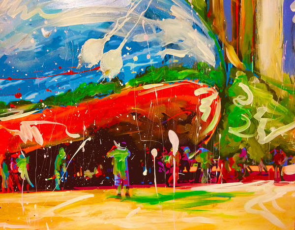 Wall Art - Painting - Chicago Bean by Elliott Aaron From