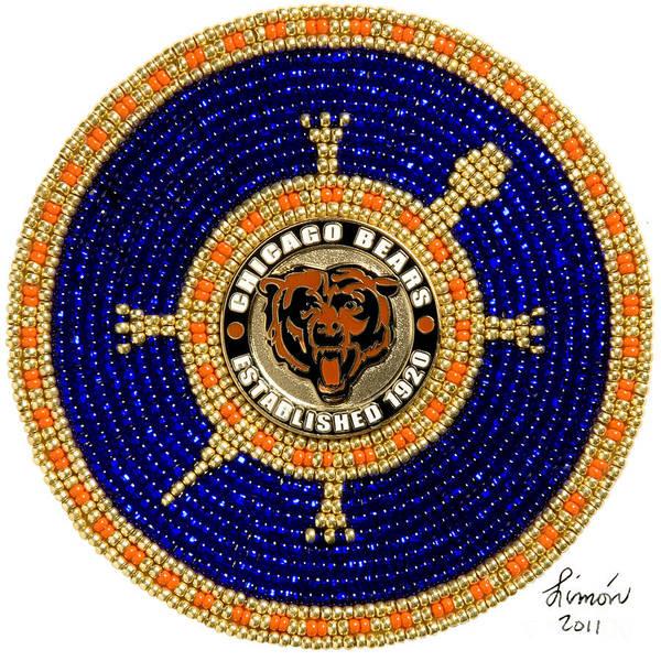 Digital Art - Chicago Bears by Douglas K Limon
