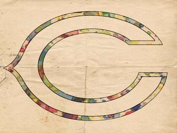 Painting - Chicago Bears Logo Vintage by Florian Rodarte