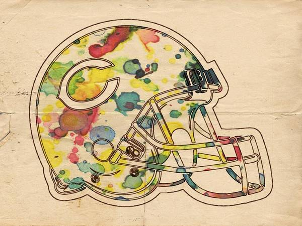 Painting - Chicago Bears Poster Art by Florian Rodarte