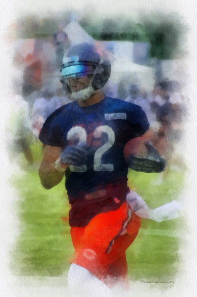 Wall Art - Photograph - Chicago Bears Rb Matt Forte Training Camp 2014 Pa 01 by Thomas Woolworth