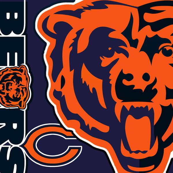 Painting - Chicago Bears by Tony Rubino